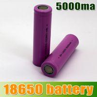 Wholesale 18650 Li ion Rechargeable Battery mAh Sexy Purple for E Cig Mechanical Mod LED Flashlight Torch Environmentally Friendly