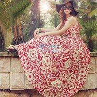 Cheap 2014 Women Dresses Summer Casual Boho Maxi Sleeveless O-Neck Evening Party Chiffon Dresses Beach Dress b7 SV005177