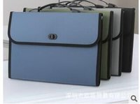 Wholesale Are multi folder file package A4 portable business data package briefcase student data package