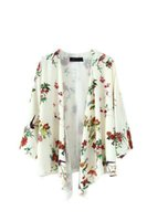Wholesale Summer new European and American Wind bird Flower Printed Kimono Jacket Women