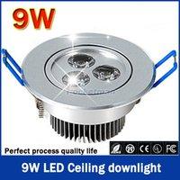 Wholesale W Ceiling downlight Epistar LED ceiling lamp Recessed Spot light V V for home illumination order lt no track