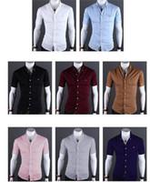 white dress shirt for men - 2016 men luxury brand shirts Business Casual short Sleeve Turn down Collar Candy colors Men Dress Shirt Men s Clothing for Summer