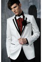 Cheap 2015Custom made Color butyl process one button white Groom Tuxedos Groomsmen Men wedding tuxedos slim wedding suits for men groom suits