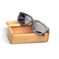bamboo - 2015 women men new fashion vacation grey bamboo Polarized wood sunglasses brand vintage eyewear wooden eyeglasses ZA35