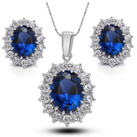 austrian crystal jewelry - Necklace and Earrings Set Good Zinc Alloy Austrian Crystal Wedding Jewelry Sets for Brides Cheap Women Jewelry Online G242