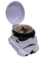 plastic tea cups - 300ml White Star Wars Stormtrooper Plastic Coffee Mug D Tea Cup Drinkware Snack Container Cup Holder