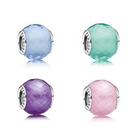 Professions, Hobbies sterling silver beads - Sterling Silver Pandora Murano Glass Beads Set Clear Cz Fits For European Bracelet price catalogue