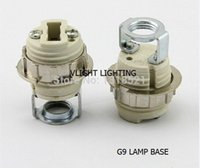 Wholesale 8 x G9 complete set lamp bases G9 led socket ceramic show lamp holder ceramic G9 lamp hoder