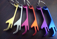 Wholesale Most popular Portable Aluminum alloy beer bottle opener with keyChain new style in design for party gift daily use