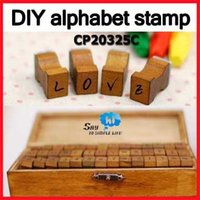 alphanumeric alphabet - Alphabet Stamp DIY Alphanumeric Capital Letter Number Wood Rubber Gift Set Sets Say Hi CP C