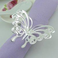 Cheap White butterfly Napkin Ring Best silver napkin