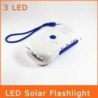 solar flashlight radio phone charger - 6LED Lighting Solar Flashlight Mobile Power Mobile Phone Charger Flashlight FM Radio SDT0007