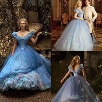 apple stories - 2015 Cinderella Prom Dresses Ice Blue Sequined Organza Cathedral Train Quinceanera Pageant Ball Gown Inspired By Cinderella Story