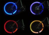 Wholesale 50pcs Flash flashing fireflys wheel lights Bicycle Flashlight LED Bike Light Bicycle Valve Core Light colors