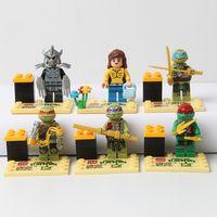 Wholesale Building Block Sets Teenage Mutant Ninja Turtles Action Mini Figures Minifigures toys Compatible