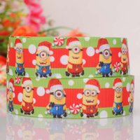 Wholesale New Design quot mm yards Despicable Me Printed Grosgrain Ribbon DIY haribow garment accessories XC