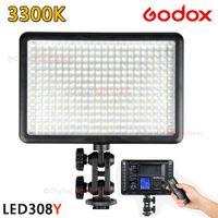 Wholesale Godox LED308Y K LED Video Light Lamp for Sony Panasonic Canon Nikon DV Camcorder DSLR Camera