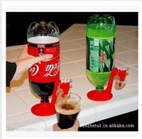 Cheap 2015 Creative Drinking Fountain Coke Bottle Upside Down Hand Pressure Pump Drinking Water Dispenser free shipping S000148