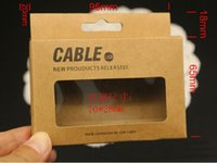 Wholesale 95 mm Universal USB Charger Cord Craft Kraft Paper Packaging Box Retail Package for Samsung S4 Note iPhone Sync Data Cable M Ft