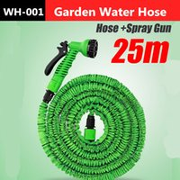 Wholesale New Functional m Garden Water Hose Spray Gun Car Wash Pipe Valve Expandable Flexible US Or UK Connector ft Blue Green