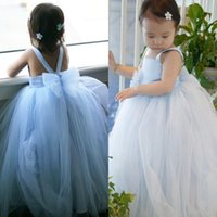 best christmas pictures - Best Selling Flower Girls Dresses With Flowers Bowknot Sash First Communion Dress Ball Gowns Tulle Little Baby Dresses