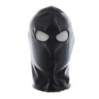 Wholesale w1031 Quality Latex Leather Gimp Eyes Open Mask Hood Fetish Bondage Restraint Begineer