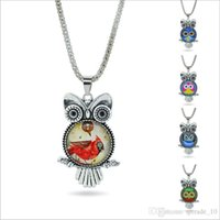 Wholesale 2015 new hotsale top European American style color Time diamond necklace owl pendants Fashion Charms Necklace Pendant gift TOPB3054
