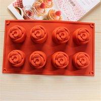 fondant roses - BPA Free Women Favor Rose Muffin Cupcake Moulds Fondant Cake Mold Sugarcrafts Decoration Candy Chocolate Ice Mold Mo5pcs DG032