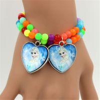Wholesale 2015 fashion Frozen Elsa Anna bead Braclets Girl Kids Bracelets mm mm mm free ship