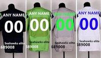 Wholesale Men Stitched Seahawks Customized Elite Football Jerseys Personalized Jerseys Embroidery Elite jersey Men Size M XXXL