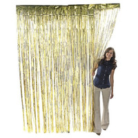 Wholesale 1 m Tinsel Foil Fringe Door Window Curtain Wedding Shower Party Decoration Photo Booth Backdrop