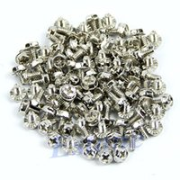 Cheap F85 Free Shipping 100pcs Toothed Hex 6 32 Computer PC Case Hard Drive Motherboard Mounting Screws
