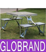 Wholesale Aluminium Folding Portable Picnic Outdoor Camping Set Table Chairs BBQ Party GLO64