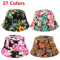 Wholesale Women Floral Sun Hat Design Summer Beach Flower Canvas Boonie Fisherman Hats Sun Protection Fishing Bucket Hats Caps For Girls Adult