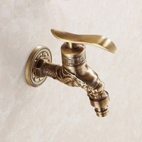 antique garden taps - Brass Antique bronze bibcock cold tap washing mashine faucet toilet bibcock copper bibcock tap Garden faucet HJ F