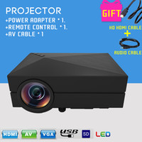 mini projector - Newest Mini Portable LM LED Projector Home Cinema Theater GM60 Projector For Video Games TV Movie SD Full HD Outdoor Theater