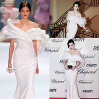beaded fans - Chopard Cannes Fan Bingbing in Ralph Russo Off shoulder Mermaid Dresses Party Evening Handmade Floral Special Occasion Dresses