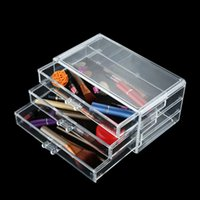 Wholesale Makeup Storage Box Plastic Transparent Cosmetic Organizer Drawers Layers Jewelry Holder maquiagem Lip stick Lipstick Bag