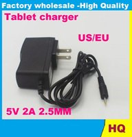 Wholesale Universal mm EU US Power Supply AC Charger V A Adapter For Android Tablet PC Free for A13 A23 ALL Tablet EU US plug Retail