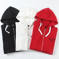 100% cotton jackets - New Arrival Mens Hoodies Jackets Robin Jeans Hoody Sweatshirts Hooded Men s Hip Hop Eagle Wings Print Casual Cotton M XL Black White Red