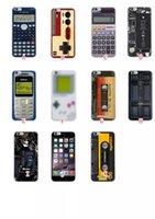 cassette case - Retro Cassette Calculator Tape Camera Recorder Pattern Rhinstone Starry Soft TPU Case For Iphone S Plus S Ibroke Machine Skin