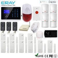 screen wire - Best Wireless Alarm Systems Touch Screen Wired Intelligent Home GSM SMS Burglar Security Alarm System Online M2FX C