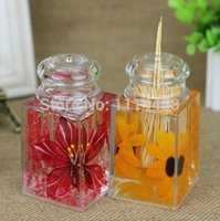 acrylic toothpick holder - Acrylic toothpick box high grade creative artificial flower toothpick holder automatically for household hotels and small cafe