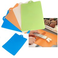 Wholesale Flexible Plastic Cutting Board Frosted Classification Chopping Block Cutting Chopping Board
