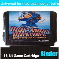 big adventure games - Rocket Knight Adventures Game Cartridge Cartridge Bit Big Black Game Card For Sega Mega Drive Genesis