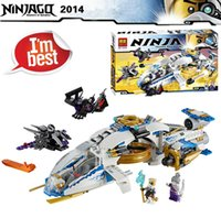 Wholesale NINJAGO Ninjacopter Zane Pixal Jet Fighter Warrior Minifigure Building Blocks for children without retail boxes