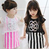 korean children clothing - Cute Dresses Princess Dress Lace Dresses Kids Wear Children Clothes Kids Clothing Summer Dresses Korean Girl Dress Flower Dresses C4995