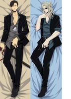 Cheap Wholesale-NEW 150x50CM Anime GANGSTA Pillow Arcangelo Worick pillowcase Nicolas Brown Dakimakura Hold pillow Bed Embrace body