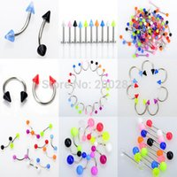 Wholesale Piercing Jewellery Mix Stainless Steel Lip Labret Piercing Nose Rings Ear Tragus Piercing Body Jewelry