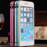 Wholesale New metal frame bumper for iPhone6 plus Arc edge colorful Protective shell